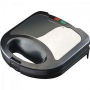 Sanduicheira e Grill em Aço Inox 220V SI02 Preta/Prata AGRATTO
