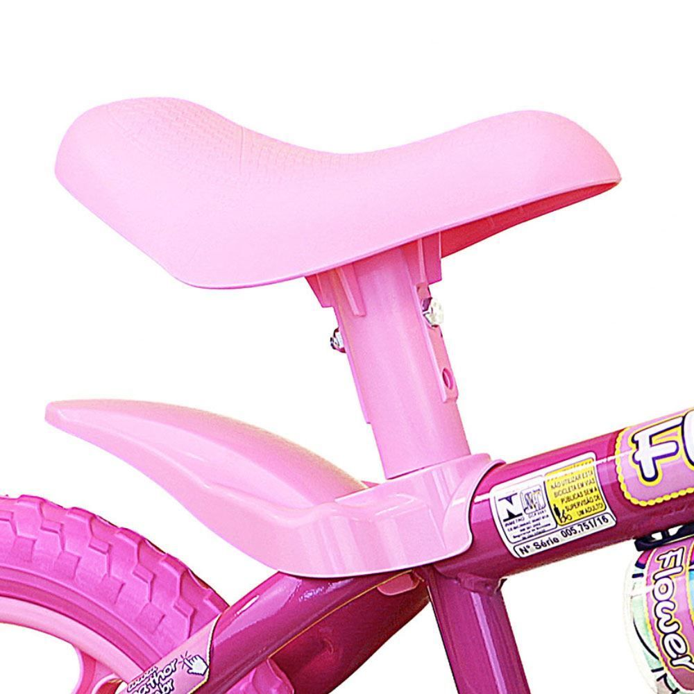Bicicleta Bici Center ARO 12 Nathor Roxo/Rosa