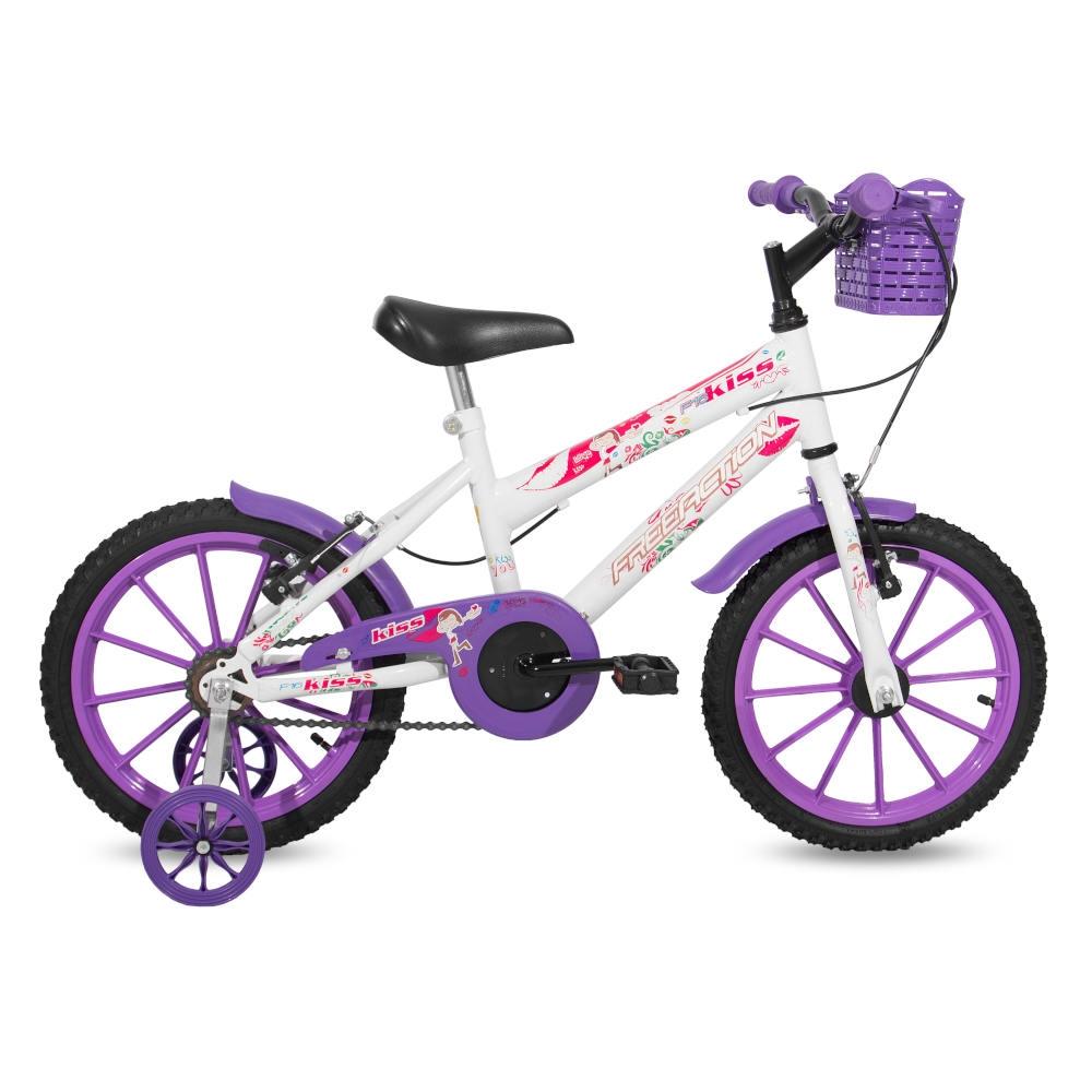 Bicicleta Bici Center ARO 16 Roxa/Branco