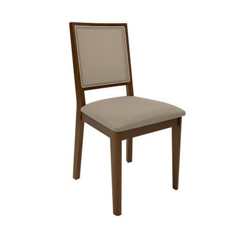 Cadeira Cella Imbuia Tec Veludo 80