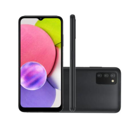 Celular Samsung A03S 64GB Preto