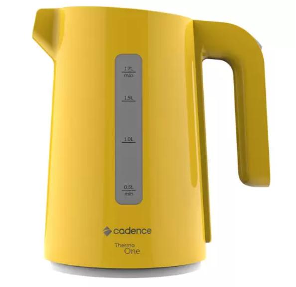 Chaleira Elétrica Cadence  1,7 Litros Amarela  220V