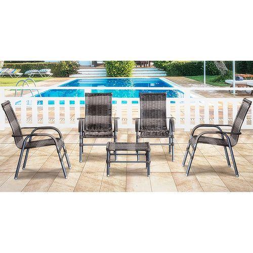 Conjunto Artesanal Fama Com 4 Cadeiras e 1 Mesa