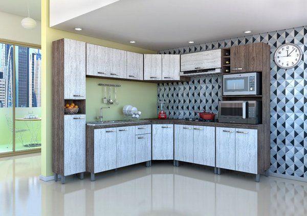 Cozinha Atlas Modulada Móveis Sul - 8 Peças