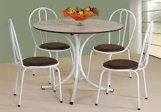 Mesa com 4 Cadeiras Tampo Redondo Buffon
