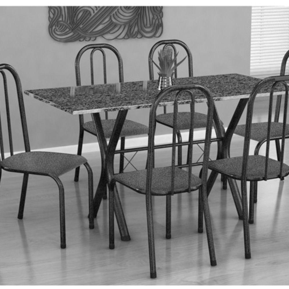 Conjunto de Mesa Miami c/ 6 Cadeiras Madri