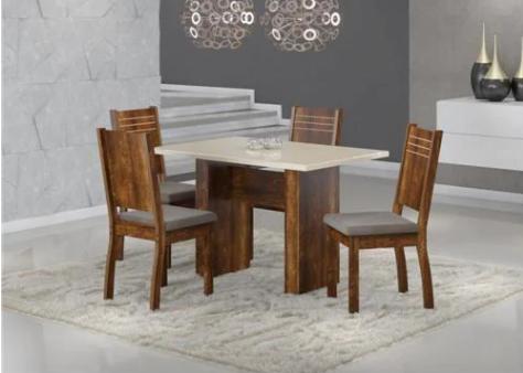 Mesa Com 4 Cadeiras Sonetto Urca