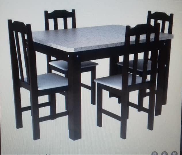 Mesa Cris Veneza Tabaco 4 Cadeiras
