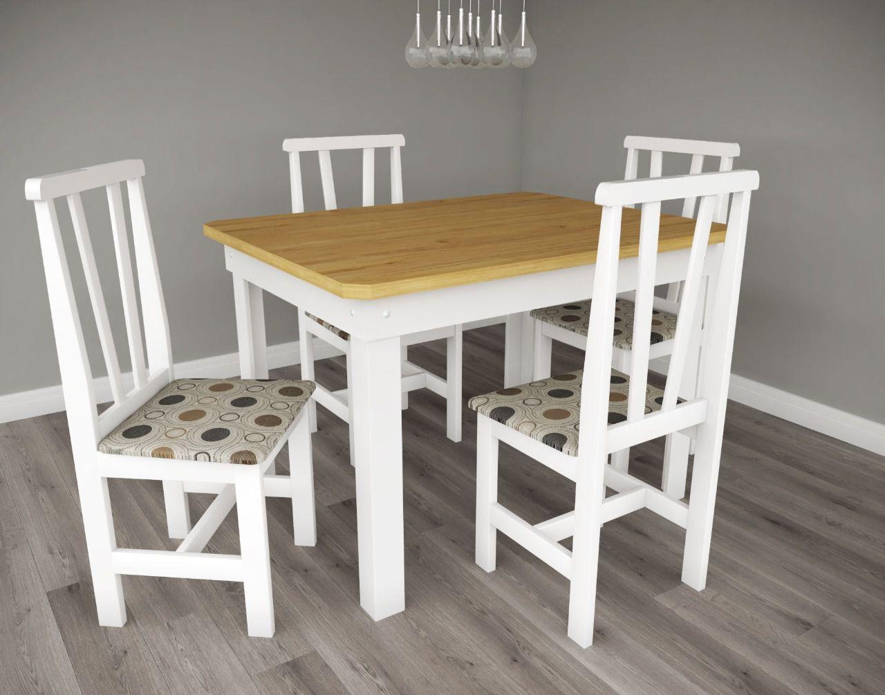 Mesa Cris Veneza 4 Cadeiras Branco