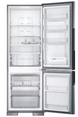 - Refrigerador Consul CRE44AK Frost Free Inverse 397 Litros Inox