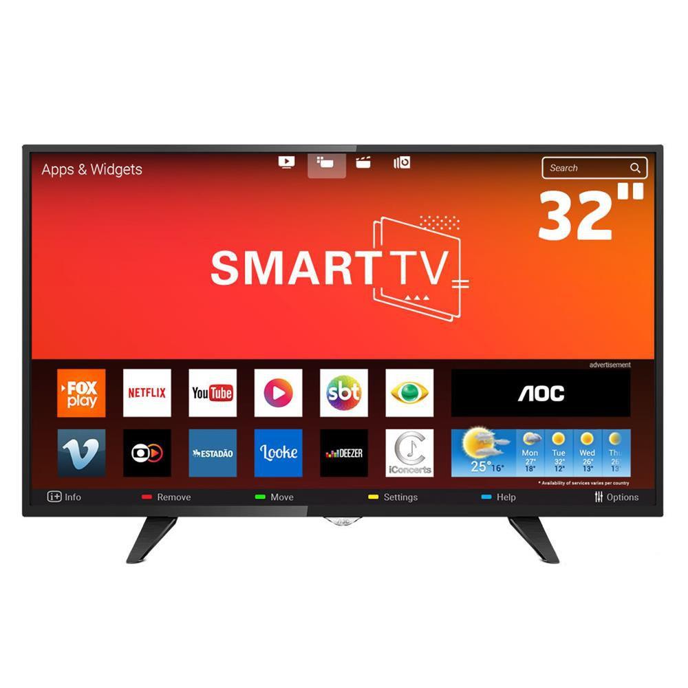 "Smart TV LED 32"" AOC Roku HD S5195"