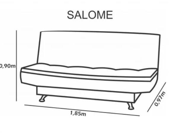 Sofa Cama Matrix Salome MarromClaro