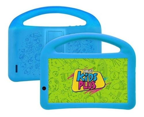 """Tablet com capa DL Kids Plus 7"""" 8GB preto/azul com memória RAM 1GB Patrocinado"""