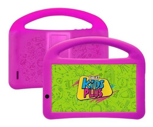 """Tablet com capa DL Kids Plus 7"""" 8GB preto/rosa com memória RAM 1GB"""