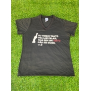 Camiseta Preta Eu tenho Tanto Feminina