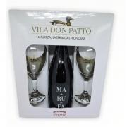 Kit Vinho Tinto Seco Fino MA+RU+FA 750ml e duas taças.