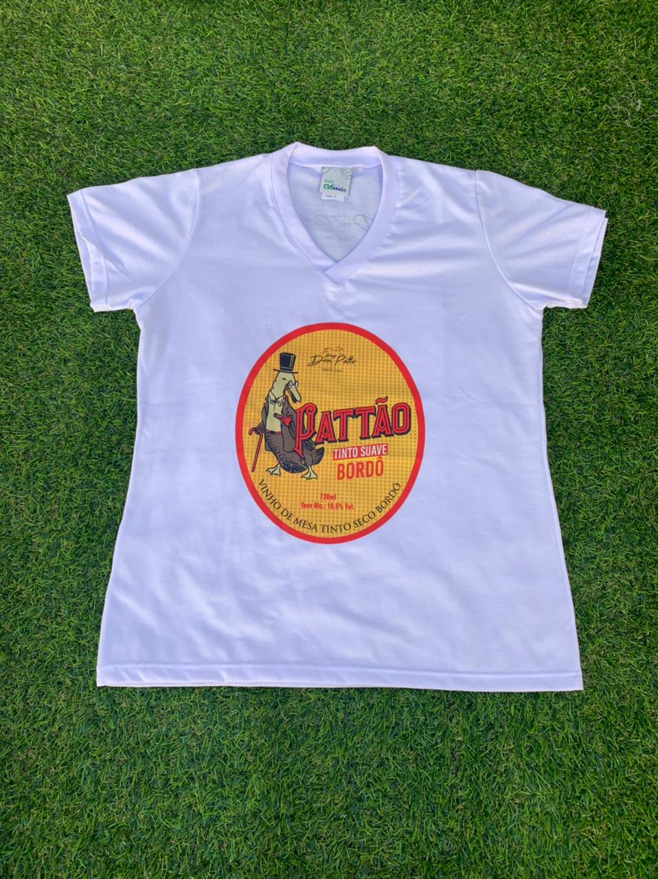 Camiseta Branca Pattão Feminina  - Empório Don Patto
