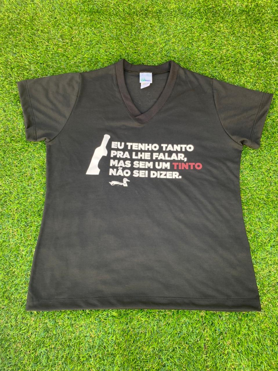 Camiseta Preta Eu tenho Tanto Feminina  - Empório Don Patto