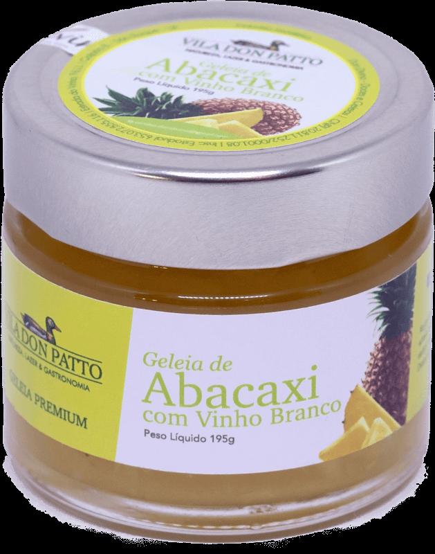 Geleia Premium de Abacaxi com Vinho Branco Vila don Patto  195g  - Empório Don Patto