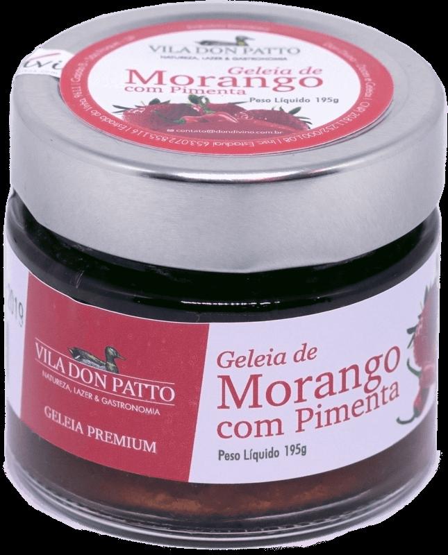 Geleia Premium de Morango com Pimenta Vila don Patto 195g  - Empório Don Patto