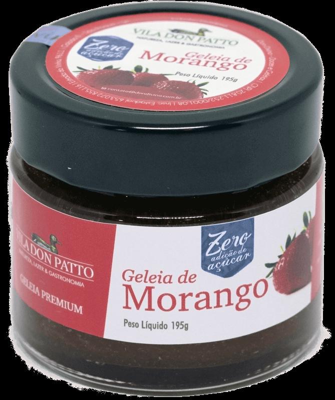 Geleia Premium de Morango Vila don Patto Zero Açúcar 195g  - Empório Don Patto
