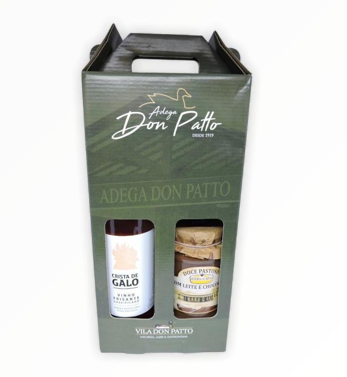Kit Crista de Galo Rose 750ml e Doce de leite com chocolate  - Empório Don Patto