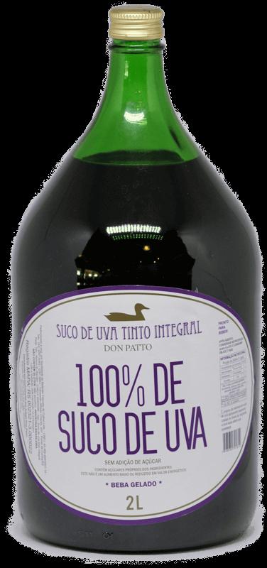 Suco de Uva Tinto Integral Don Patto 2 litros  - Empório Don Patto