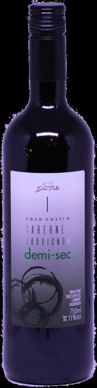 Vinho Casa Nostra Cabernet Sauvignon Demi-Sec 750ml  - Empório Don Patto
