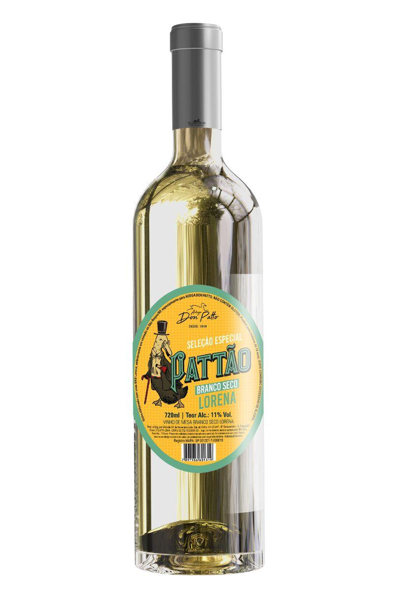 Vinho Pattão Branco de Mesa Seco Lorena 720ml  - Empório Don Patto