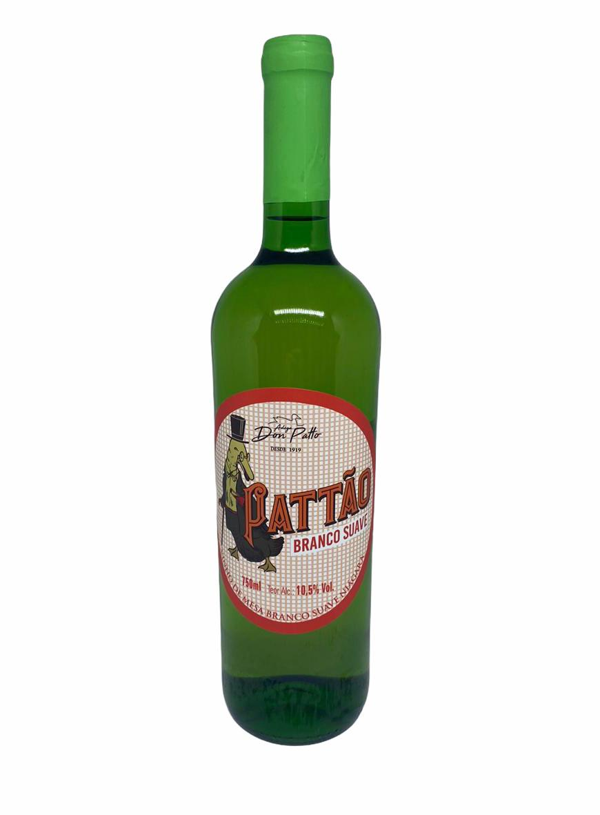 Vinho Pattão Branco de Mesa Suave 750ml  - Empório Don Patto