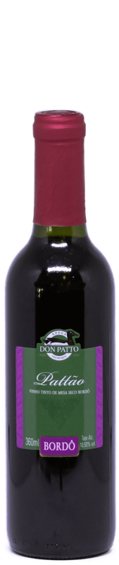 Vinho Pattão Tinto de Mesa Seco Bordô 360ml  - Empório Don Patto