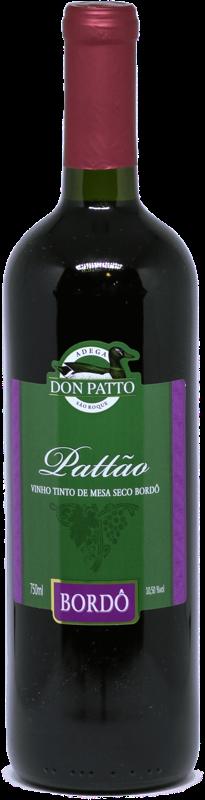 Vinho Pattão Tinto de Mesa Seco Bordô 750ml  - Empório Don Patto