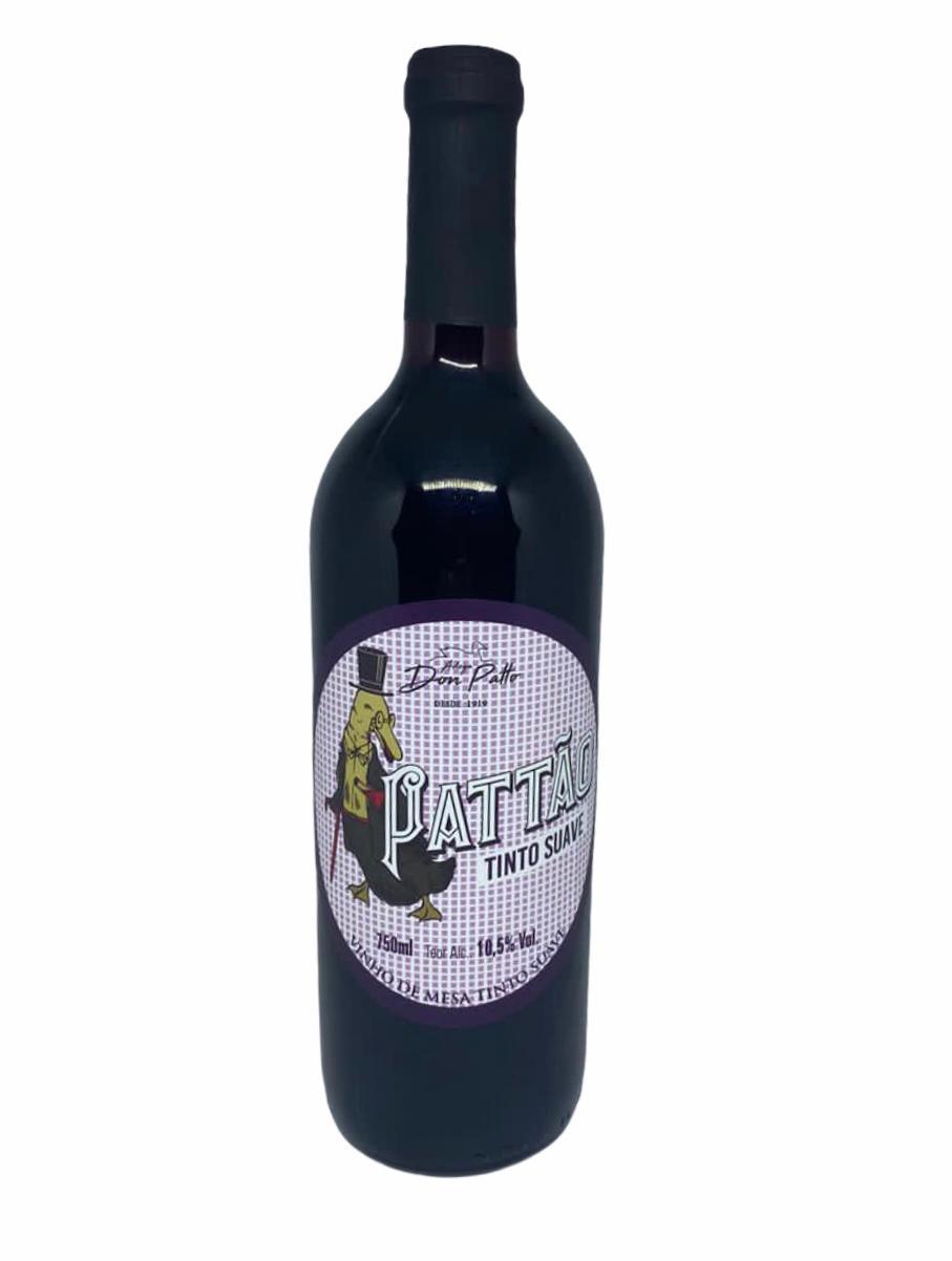 Vinho Pattão Tinto de Mesa Suave 750ml  - Empório Don Patto