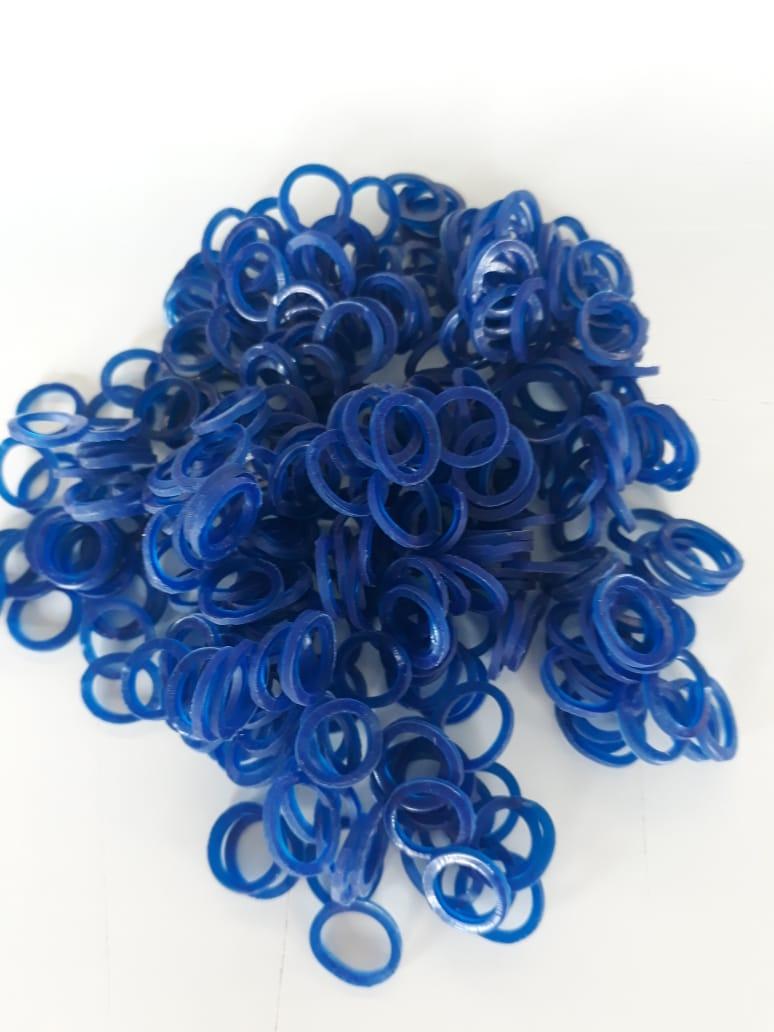 Elástico colorido 5/16 Azul
