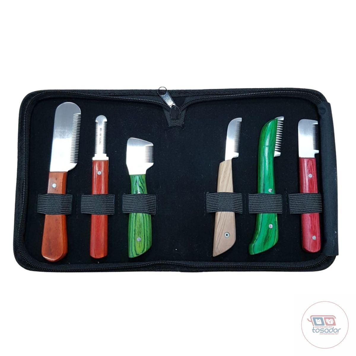 kit facas Stripper Trimming com 6 unidades