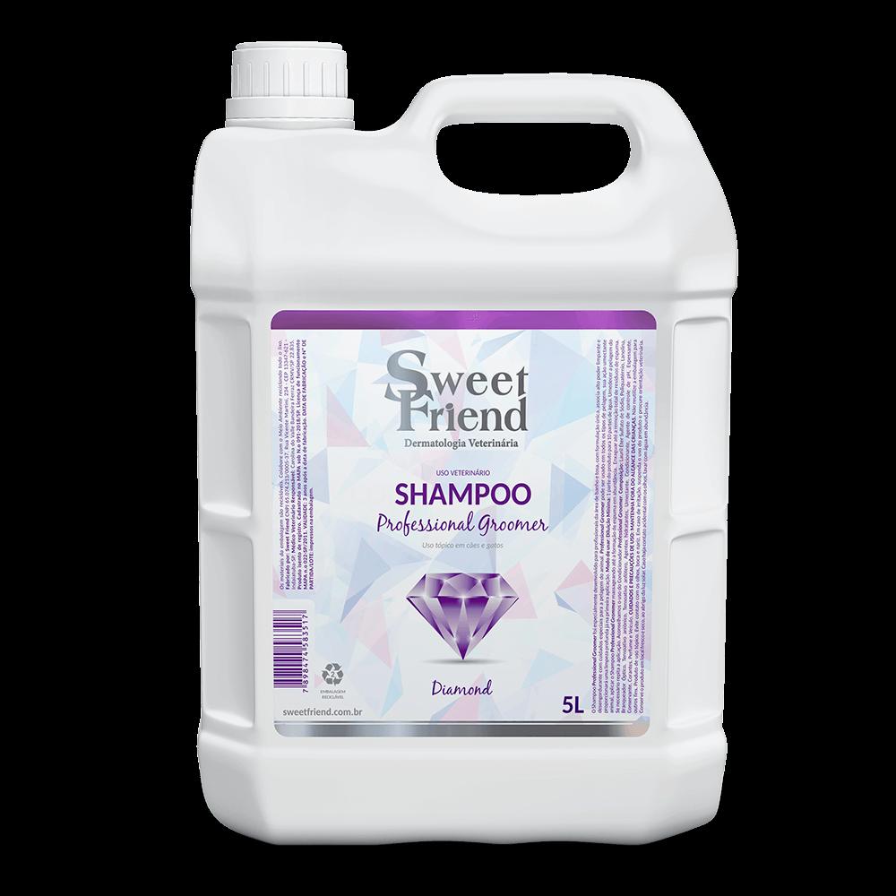 Shampoo Professional Groomer Diamond – Sweet Friend - 5 Litros