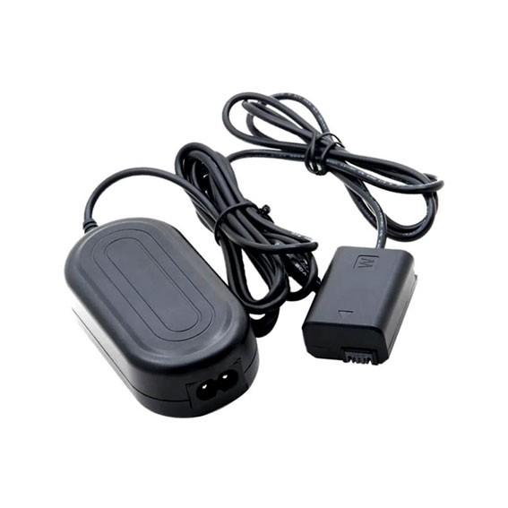 Adaptador AC-PW20 com Acoplador DC NP-FW50 para Bateria Sony FW50 (Bivolt)