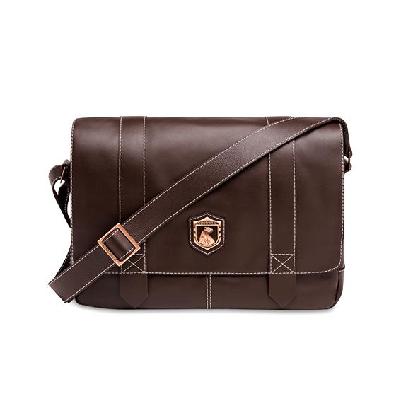 Bolsa masculina de couro para notebook Nordweg Schuster NW066