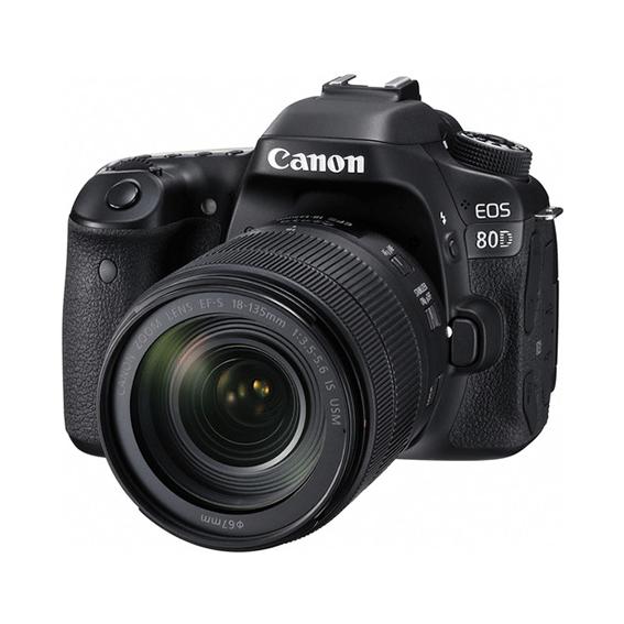 Câmera Canon EOS 80D Kit com Lente 18-135mm f/3.5-5.6 IS USM