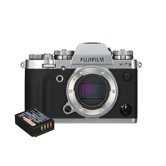 Câmera Fujifilm X-T3 Prata (somente o corpo) + Bateria Extra NP 126S
