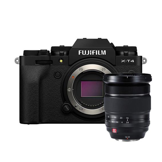 Câmera Fujifilm X-T4 Black com Lente XF16-55mm f/2.8 R LM WR
