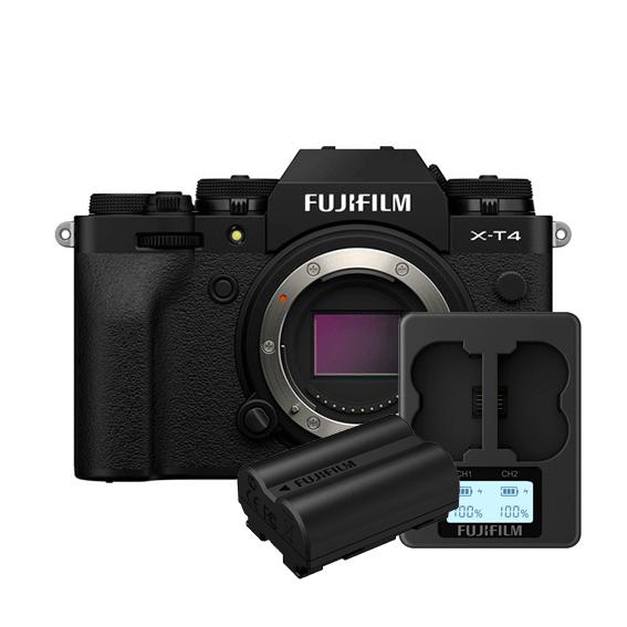 Câmera Fujifilm X-T4 Black (Somente o corpo) + Carregador Dual + Bateria Extra