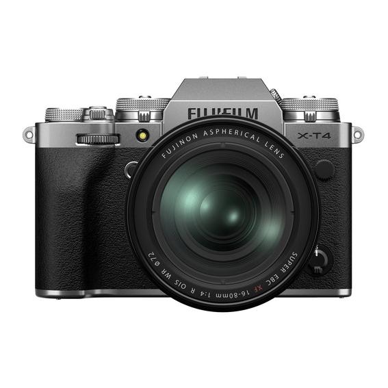 Câmera Fujifilm X-T4 Silver com Lente 16-80mm