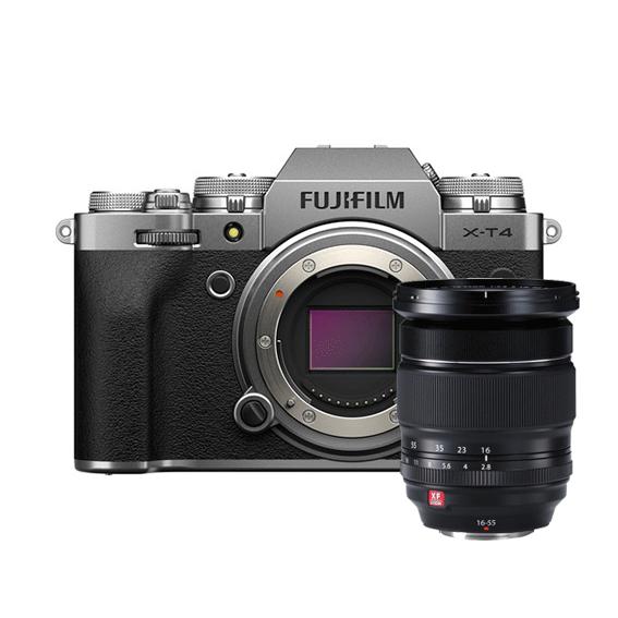 Câmera Fujifilm X-T4 Silver + Lente XF16-55mm f/2.8 R LM WR