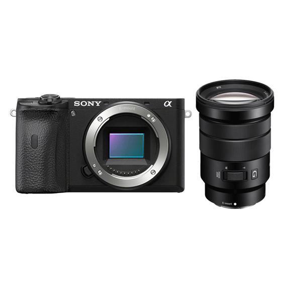 Câmera Sony a6600 APS-C com Lente 18-105mm f/4