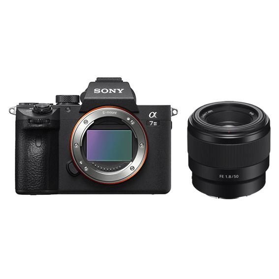 Câmera Sony A7III Full Frame com Lente 50mm f/1.8