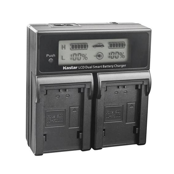 Carregador Duplo para Sony NP-FZ100 de Carga Rápida e Visor de LCD (Bivolt)