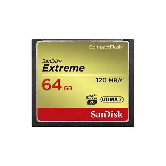 Cartão Compact Flash Sandisk Extreme 64gb 120mb/s*
