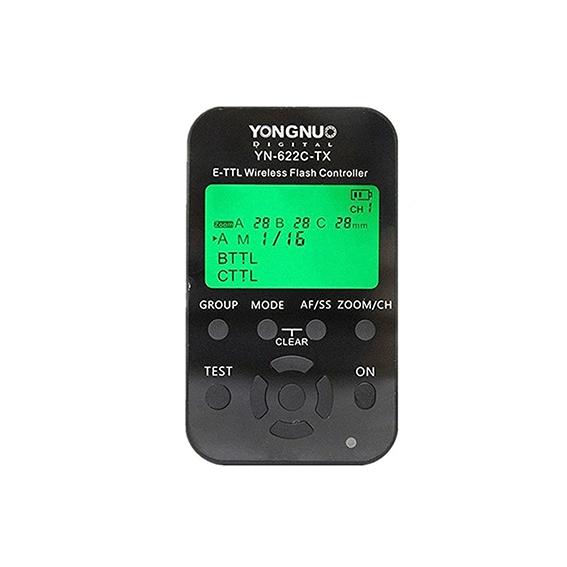 Controlador Rádio Flash YN622C-TX para Canon TTL