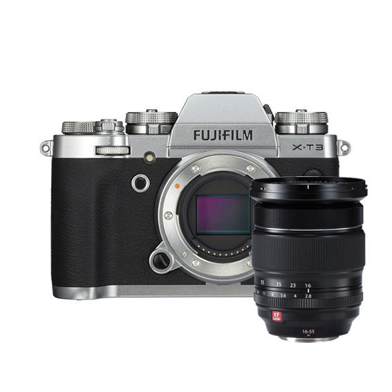 Câmera Fujifilm X-T3 Prata com Lente XF16-55mm f/2.8 R LM WR
